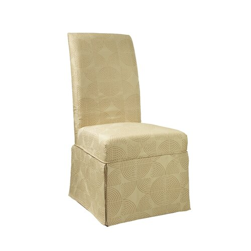 powell furniture circle parson chair skirted slipcover