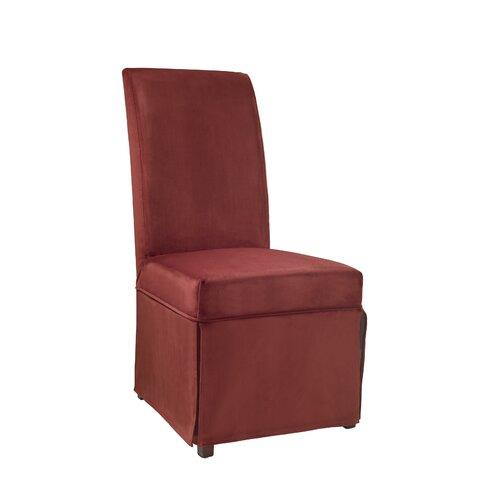 Powell Furniture Velvet Skirted Slip Cover