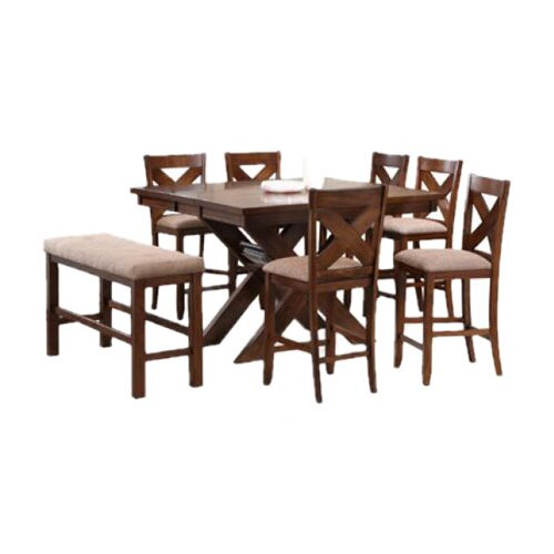 Powell Furniture Kraven 8 Piece Counter Height Dining Set
