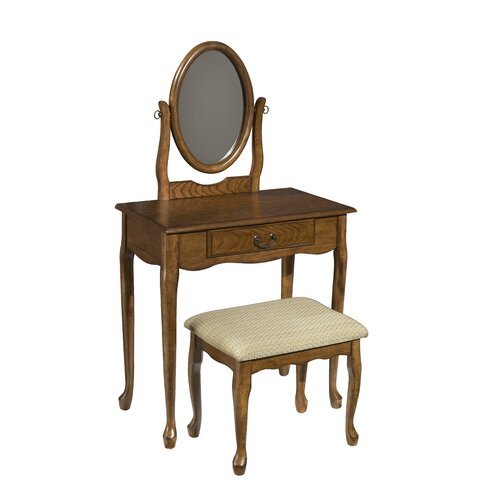Powell Furniture Woodland Vanity Set with Mirror