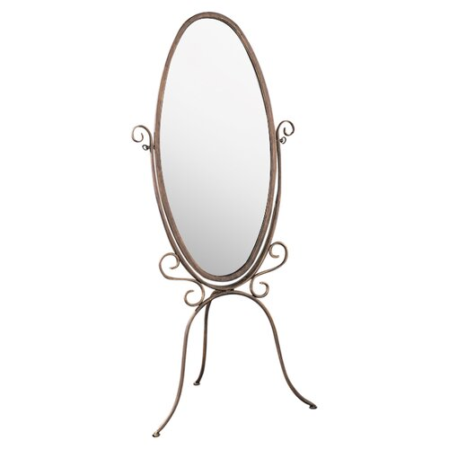 Powell Furniture Garden District Scroll Cheval Mirror