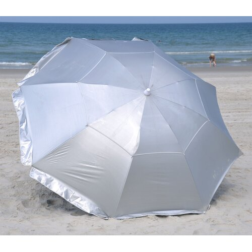 Solar Guard 8' Deluxe Dual Canopy Beach Umbrella