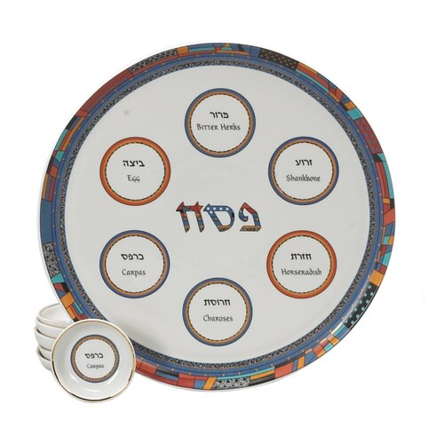 Israel Giftware Design Colorful Porcelain Seder Set