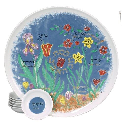 Israel Giftware Design Spring Themed Porcelain Seder Set