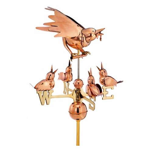 Good Directions Mother Bird and Chicks Weathervane