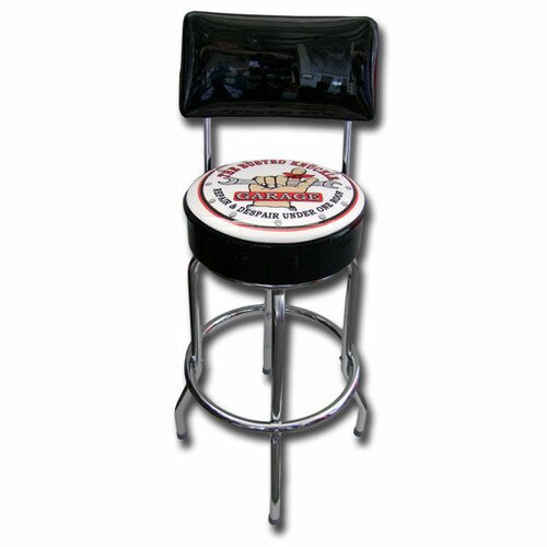 Almost There Busted Knuckle Garage Swivel Bar Stool