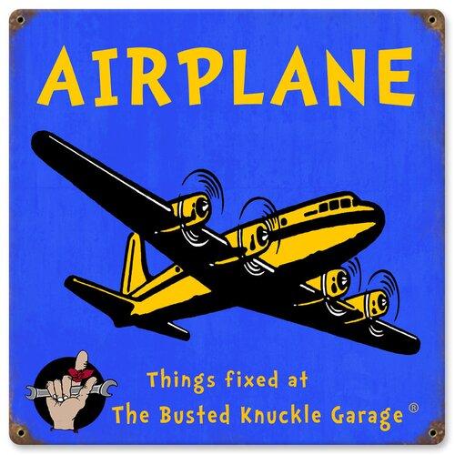 Busted Knuckle Garage Kid's Airplane Vintage Advertisement