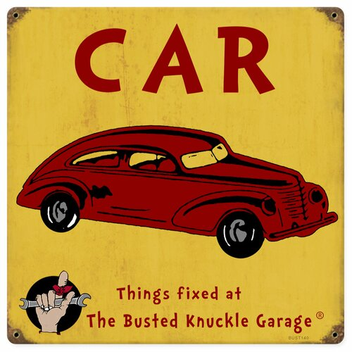 Almost There Busted Knuckle Garage Kid's Automobile Vintage Advertisement