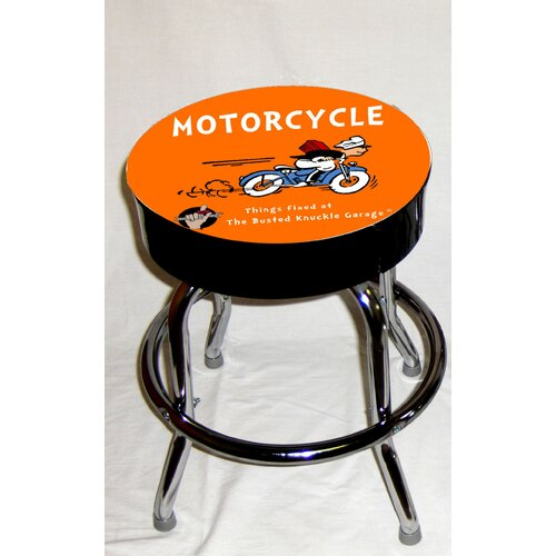 Almost There Busted Knuckle Garage Kid's Swivel Motorcycle Stool