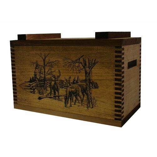 Standard Storage Box With Winter Deer Print
