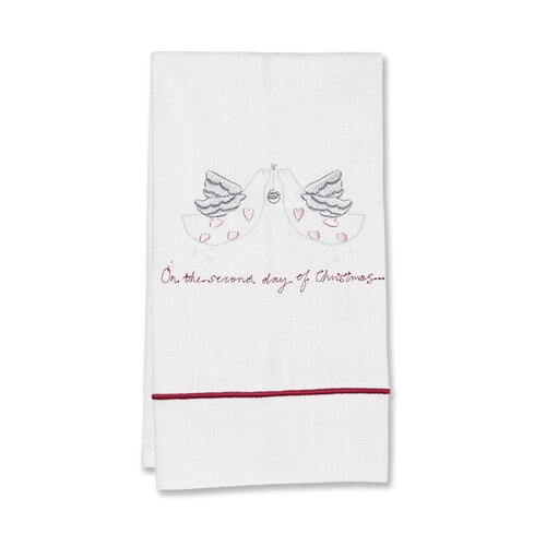 Jacaranda Living Second Day of Christmas Hand Towel