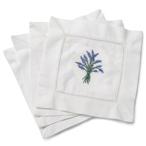 Jacaranda Living Heather Embroidered Cocktail Napkins