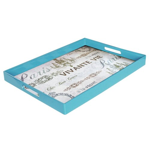 Accents by Jay Notions Paris Rectangle Tray with Handles