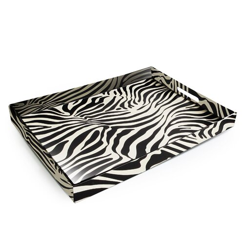 Accents by Jay Zebra Rectangular Serving Tray