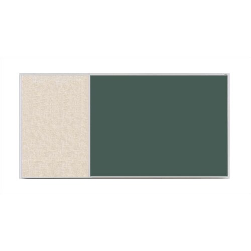 Marsh Crest-Line XL Series D Configuration Antique White Bulletin Board and Green Chalkboard