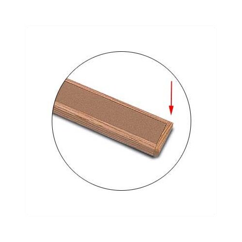 Marsh Map Rail Accessories - Oak End Plate - Single Plate