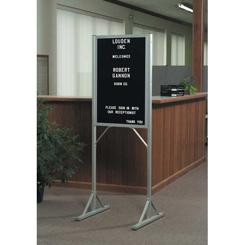 Marsh Double Pedestal Open-Face Directory Boards - Aluminum
