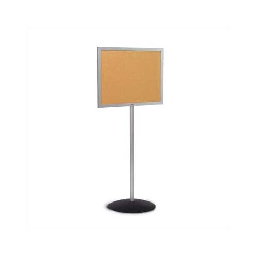 Marsh Single Pedestal Bulletin Boards - Aluminum