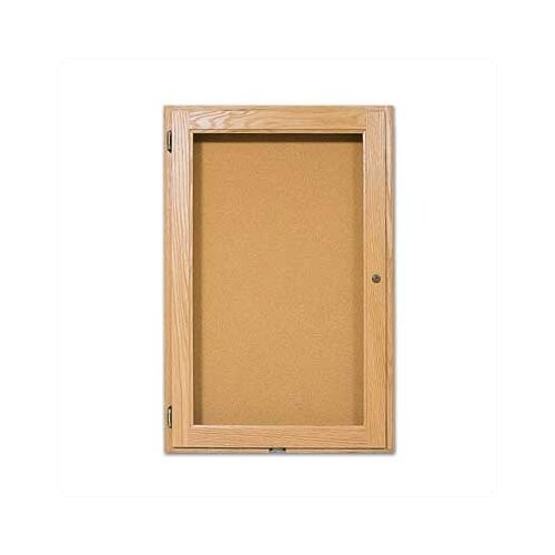 Marsh Wall-Mounted Enclosed Bulletin Boards - Oak