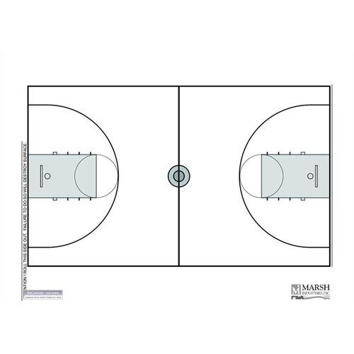 Marsh Magnetic Dry-Erase Coaching Aides Mat - Basketball