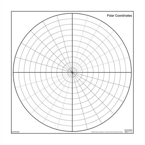 Marsh Magnetic Dry-Erase Teaching Aides Mat - Polar Coordinates