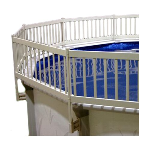 Vinyl works above ground pool fence kit reviews wayfair for Above ground pool vinyl decks