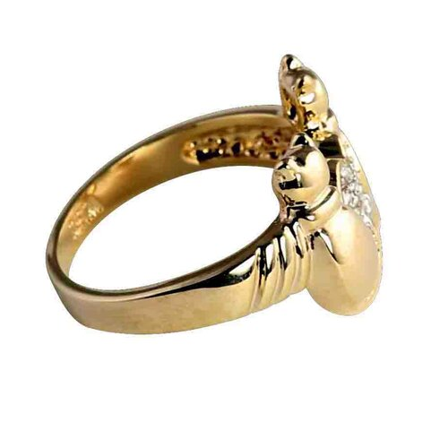 Palm Beach Jewelry Gold Plated Crystal Cat Ring