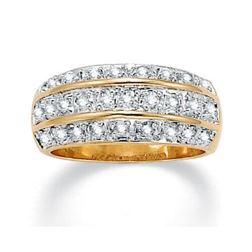 Palm Beach Jewelry Gold Plated Tutone Cubic Zirconia Band