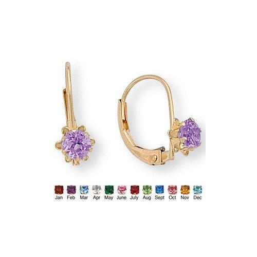 Gold Genuine Birthstone Earrings