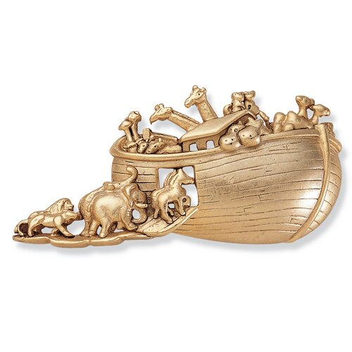Palm Beach Jewelry Goldtone Antiqued Noah's Ark Pin