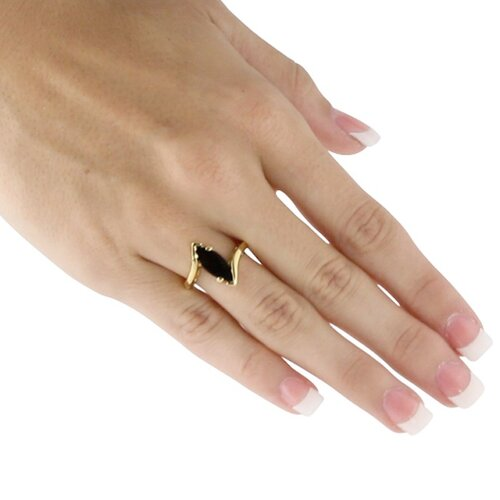 Palm Beach Jewelry Gold Plated Onyx Ring