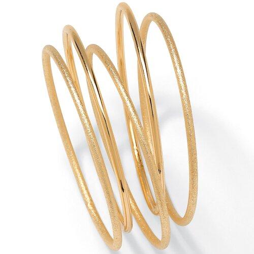 Palm Beach Jewelry Goldtone Bangle Bracelets