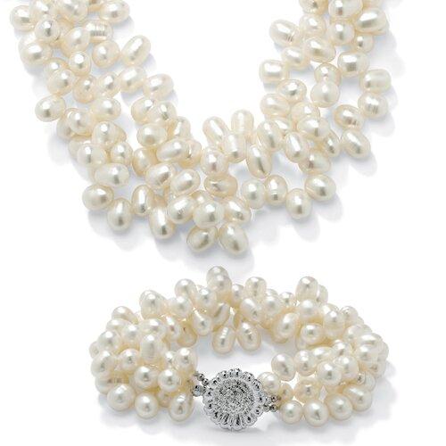 Palm Beach Jewelry 2 Piece Cultured Pearl Set