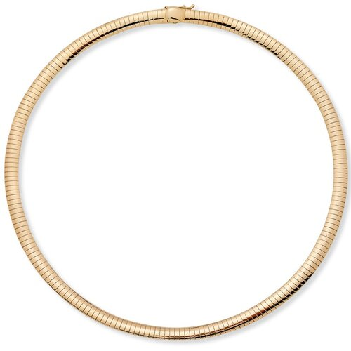 Goldtone Omega Link Necklace