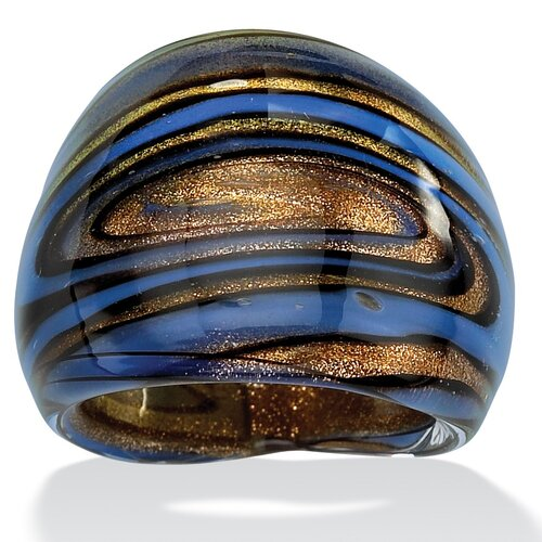 Palm Beach Jewelry Multi-Colored Glass Dome Ring