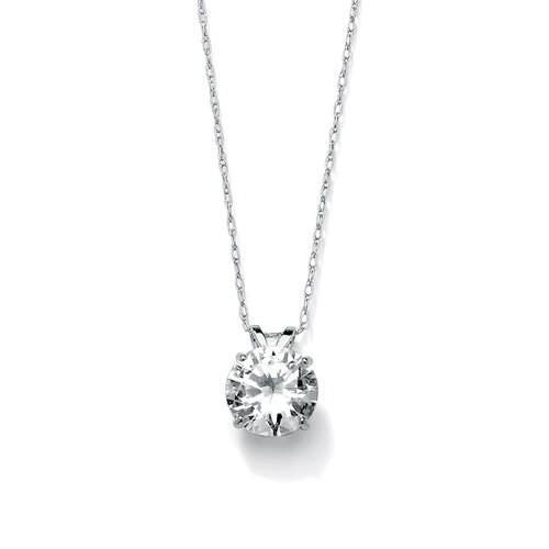 Palm Beach Jewelry Round Cubic Zirconia Pendant