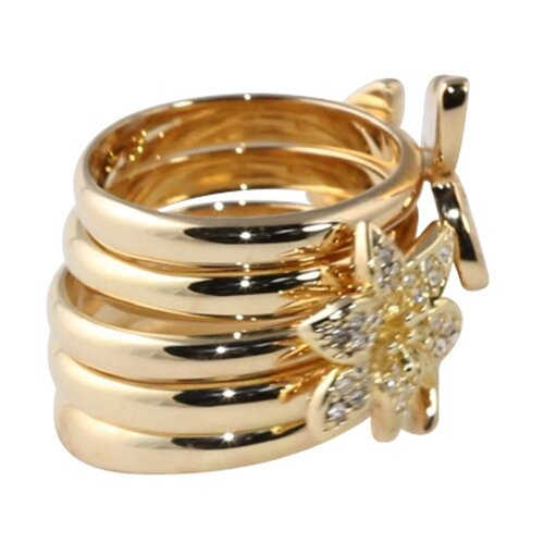 Palm Beach Jewelry Gold Plated Stackable Rings