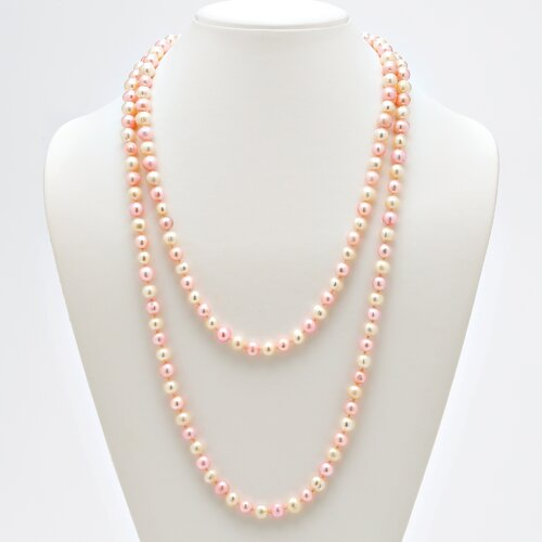 Pink and White Cultured Pearl Necklace
