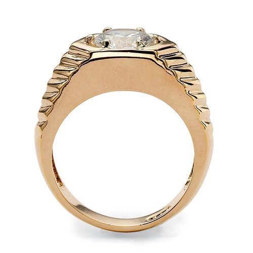 Palm Beach Jewelry Gold Plated Round Cubic Zirconia Ring