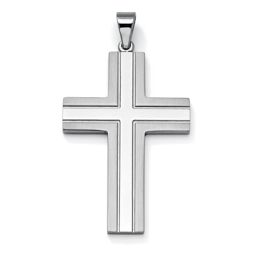 Palm Beach Jewelry Stainless Steel Cross Pendant