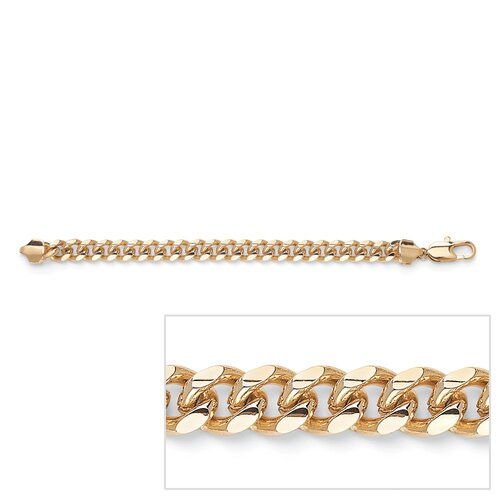 Gold Plated Men's Curb-Link Bracelet