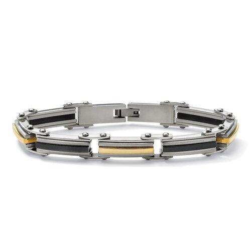Stainless Steel Men's Elongated-Link Bracelet