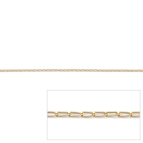 Palm Beach Jewelry Gold Elongated Curb-Link Necklace