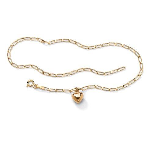 Palm Beach Jewelry Gold Heart Charm Bracelet