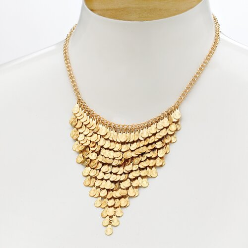 Gold Plated Multi-Disk Jewelry Set