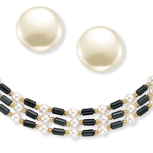 Palm Beach Jewelry Goldtone Simulated Cultured Pearl Jewelry Set