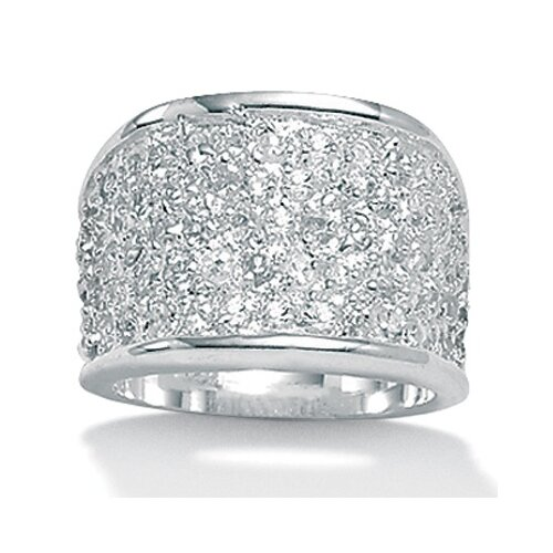 Palm Beach Jewelry Cubic Zirconia Silver Ring