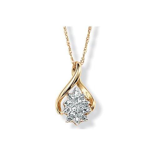 Palm Beach Jewelry 10K Diamond Cluster Pendant