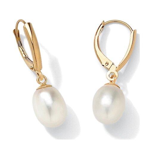 Cultured Pearl 14K Gold Earrings