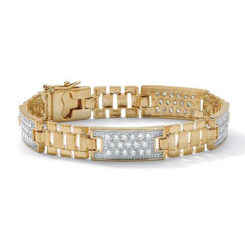 Men's Cubic Zirconia Link Bracelet